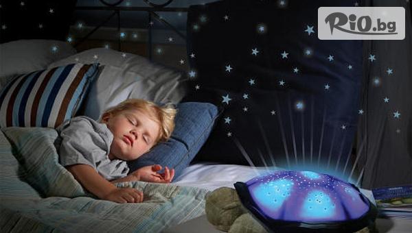 Нощна лампа плюшена костенурка #1