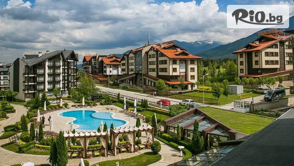 Лятна почивка край Банско! Нощувка със закуска и вечеря + басейни, шезлонг, чадър и релакс зона, от Хотел Aspen Resort 3*
