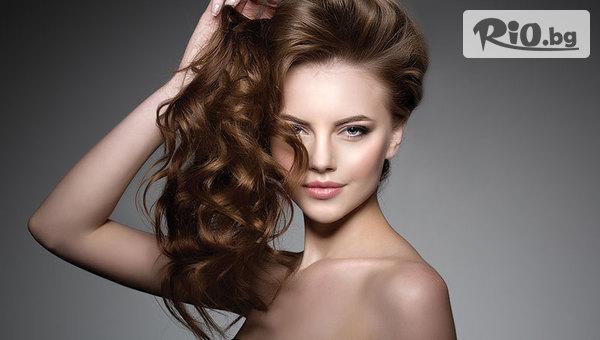 Подстригване + изсушаване и оформяне на косата със сешоар, от Салон Angelica Beauty
