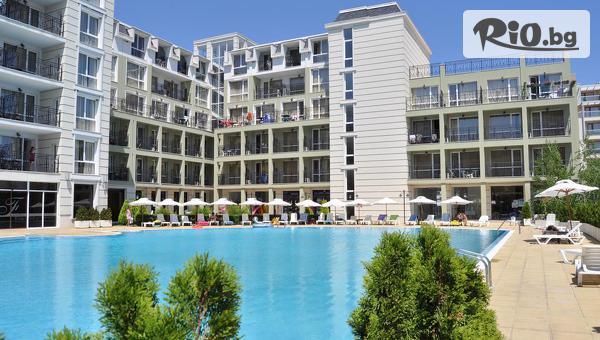 Лятна почивка на първа линия в Поморие! Нощувка в апартамент до четирима + басейн, шезлонг и чадър, от Феста Поморие Ризорт