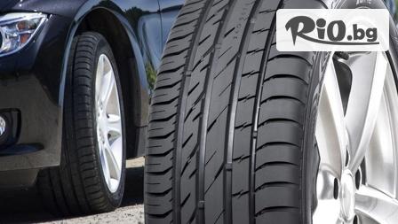 Сезонна смяна на 2 броя гуми до 22 цола - сваляне, качване,...