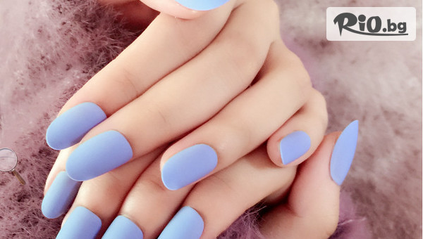 Перфектни нокти! Маникюр с гел лак BlueSky и ефект термо лак или