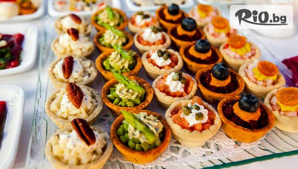 Сет от хапки за всеки повод - 100, 130 или 190 броя, аранжирани и декорирани за директно сервиране, от Криейтив кетъринг