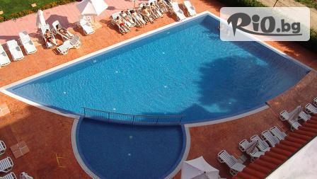 Почивка през Юни в Слънчев бряг! Нощувка в луксозно студио или апартамент + външен басейн с минерална вода, Апартхотел Хепи