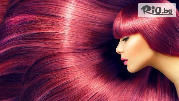 Боядисване на косата с боя на клиента, измиване + оформяне на прическа с четка и сешоар с 52% отстъпка, от Салон за красота Bibi fashion