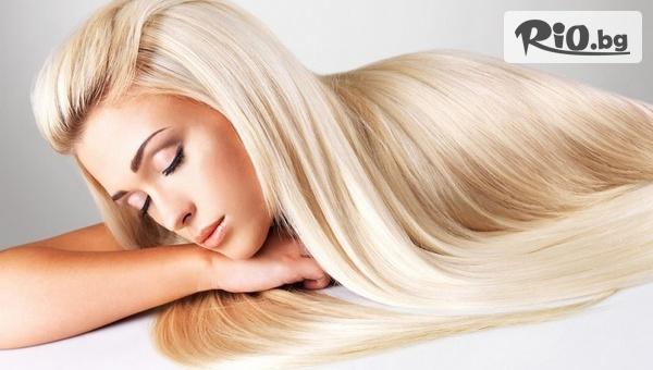 Премахване на цъфтежа с полировчик, без да се скъсява дължината на косата, измиване и маска, от Салон за красота Goldy Style