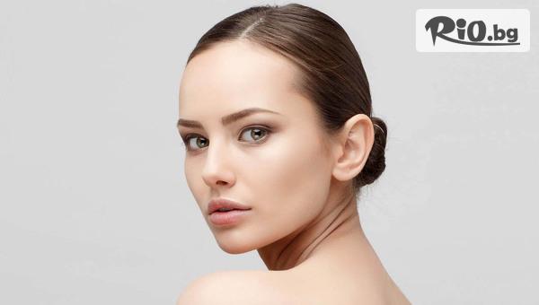 Колагенова терапия Hydraforce за лице, шия и околоочен контур с водно микродермоабразио, от Студио за красота Хубава жена