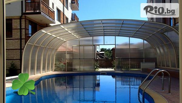 Почивка в Банско до края на Септември! Нощувка на база All Inclusive Light + басейн, от Хотел Четирилистна детелина
