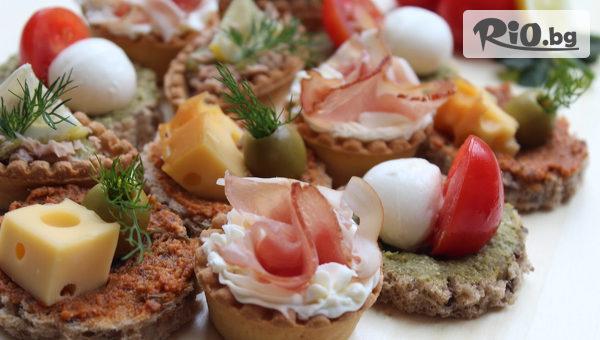 Коктейлни хапки за всеки повод - 90, 140 или 170 броя, аранжирани и декорирани за директно сервиране, от Криейтив кетъринг