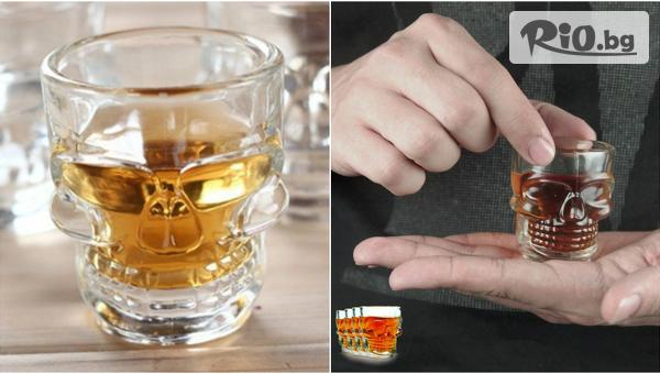 Стъклени шот череп чашки #1